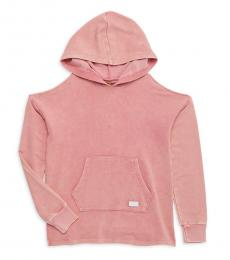 7 For All Mankind Girls Pink Pocket Hoodie