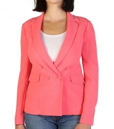 Armani Jeans Pink Notch Lapel Button Detail Blazer