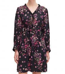Kate Spade Black Pattern Bora Flora Dress