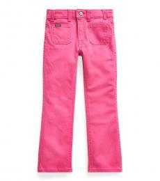 Ralph Lauren Little Girls College Pink Jenn Flare Jeans