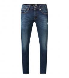 Love Moschino Dark Blue Straight Leg Jeans
