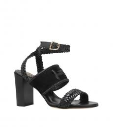 Tod's Black Ankle Strap Heels