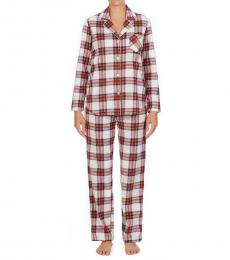 Ralph Lauren Multi Color Fleece Packaged Pajama Set