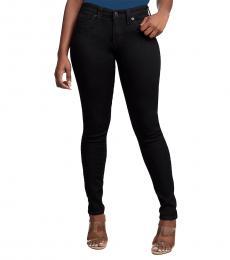 True Religion Black Jennie Curvy Skinny Stretch Jeans