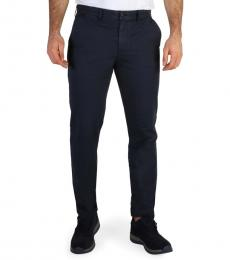 Calvin Klein Navy Blue Solid Chino Pants