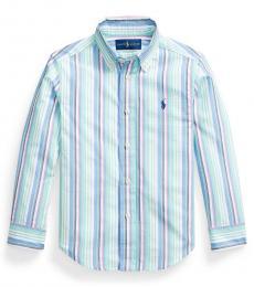 Ralph Lauren Little Boys Multi Striped Seersucker Shirt