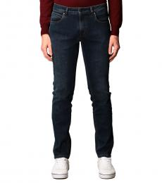Fay Navy Blue Stretch Cotton Jeans