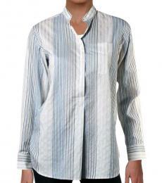 White Multi Striped Button-Down Shirt