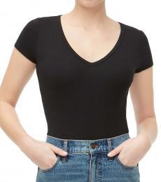 J.Crew Black V-Neck Slim Fit T-Shirt