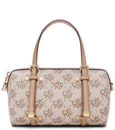 DKNY Light Brown Bo Town Mini Duffle Bag