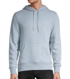 Michael Kors Light Blue Regular-Fit Cotton Hoodie