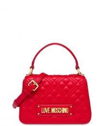 Love Moschino Red Quilted Mini Satchel