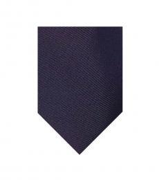 DKNY Black Solid Silk Tie