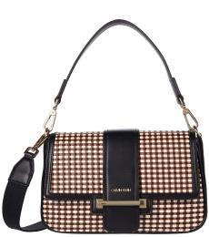 Calvin Klein Black Nadine Medium Shoulder Bag