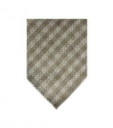 Tom Ford Light Brown Beige Check Tie