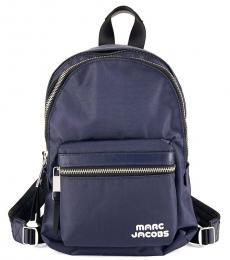 Blue Logo Medium Backpack