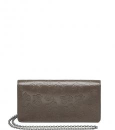 Bottega Veneta Grey Butterfly Small Shoulder Bag
