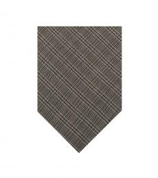 Moschino Grey Silk Tie