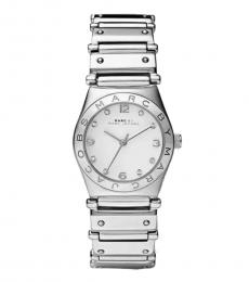 Marc Jacobs Silver Crystals Logo Watch