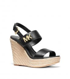Michael Kors Black Deanna Logo Wedges