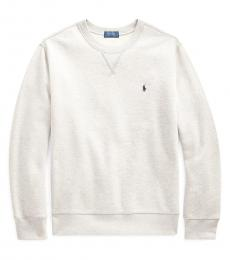 Ralph Lauren Boys Grey Cotton-Blend-Fleece Sweatshirt