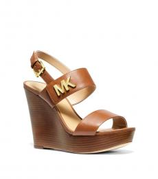 Michael Kors Luggage Deanna Logo Wedges
