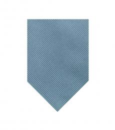 Moschino Light Blue Silk Tie