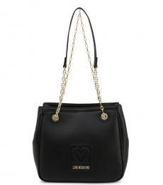 Love Moschino Black Solid Medium Shoulder Bag