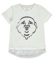 True Religion Girls White Mesh Accent T-Shirt