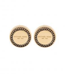 Michael Kors Gold Signature Stud Earrings