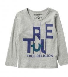 True Religion Little Boys Grey True Slice Long Sleeve T-Shirt