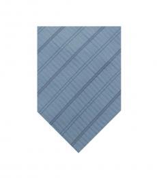 Light Blue Stripe Logo Tie
