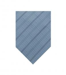 Moschino Light Blue Stripe Logo Tie