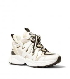 Michael Kors Ecru Multi Hero Mixed-Media Sneakers