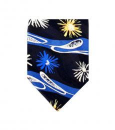 Dolce & Gabbana Blue Elegant Floral Print Tie