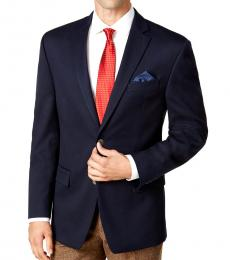 Navy Classic-Fit Stretch Performance Blazer