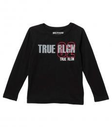 True Religion Little Boys Black True 02 Long Sleeve T-Shirt