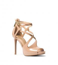 Michael Kors Toffee Catia Patent Leather Heels