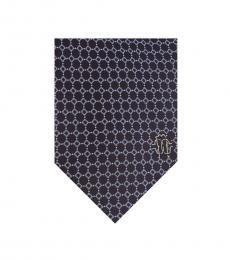 Purple Micro Geometric Tie