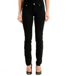 Black Pins Decorated Slim Fit Jeans