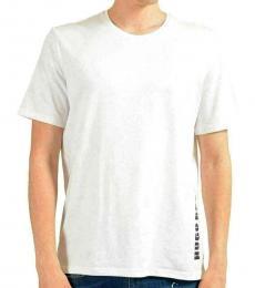 Hugo Boss White Graphic Crewneck T-Shirt