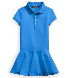 Ralph Lauren Little Girls Colby Blue Polo Dress
