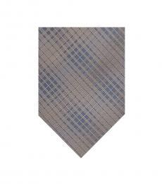 Calvin Klein Taupe Hi-Rise Grid Tie