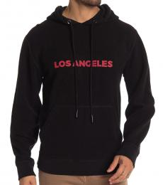 7 For All Mankind Black Reversible Hoodie