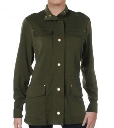 Ralph Lauren Green Cotton Utility Jacket