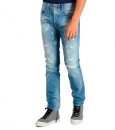 Diesel Blue Distressed Denim Buster Jeans