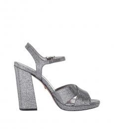 Silver Alexia Heels