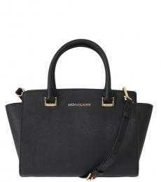 Michael Kors Black Selma Large Satchel