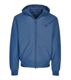 Fred Perry Dark Blue Logo Embroidery Jacket