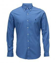Deep Blue Classic Fit Sport Shirt